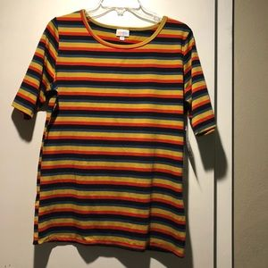 LuLaRoe Gigi  striped Shirt size XL NWT